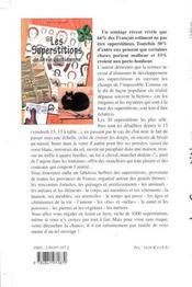 Superstitions De La Vie Quotidienne - 4ème de couverture - Format classique