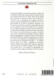 Francis Bacon - 4ème de couverture - Format classique