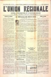 Union Regionale (L') N°1110 du 07/12/1939 - Couverture - Format classique
