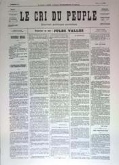 Cri Du Peuple (Le) N°54 du 24/04/1871 - Couverture - Format classique