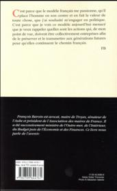 Un chemin français - 4ème de couverture - Format classique