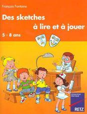 Sketches A Lire Et A Jouer - Intérieur - Format classique