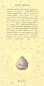 Le pin parasol - 4ème de couverture - Format classique
