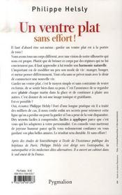 Un Ventre Plat Sans Effort - 4ème de couverture - Format classique