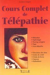 Cours Complet De Telepathie - Intérieur - Format classique
