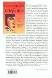 Cours Complet De Telepathie - 4ème de couverture - Format classique