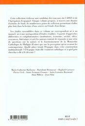 La Monarchie Catholique De Philippe Ii Et Les Espagnols - 4ème de couverture - Format classique