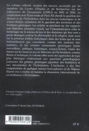 Detours Et Hybridations Dans Les Oeuvres Fantastiques Et De Science-Fiction - 4ème de couverture - Format classique