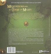 Meditations sur la terre du milieu - 4ème de couverture - Format classique