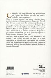 Création au feminin t.2 ; arts visuels - 4ème de couverture - Format classique