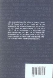 Chroniques De Luxe - 4ème de couverture - Format classique