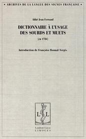 Dictionnaire des sourds-muets - Intérieur - Format classique