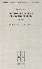 Dictionnaire des sourds-muets - Couverture - Format classique