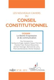 Vente livre :  CAHIERS CONSEIL CONSTITUTIONNEL N.36  - Collectif