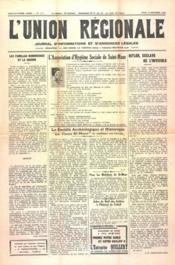 Union Regionale (L') N°1111 du 14/12/1939 - Couverture - Format classique