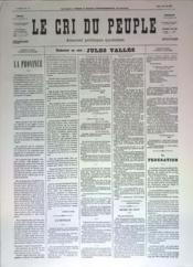 Cri Du Peuple (Le) N°55 du 25/04/1871 - Couverture - Format classique