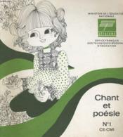 Chant Et Poesie N°1 - Couverture - Format classique