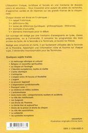 Dossiers D'Education Civique Juridique Et Sociale Vol.2 Lycee / Ecjs - 4ème de couverture - Format classique
