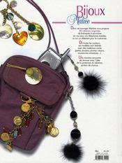 Bijoux Malice - 4ème de couverture - Format classique
