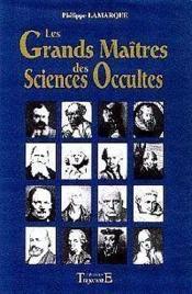 Grands Maitres Sciences Occulte - Couverture - Format classique