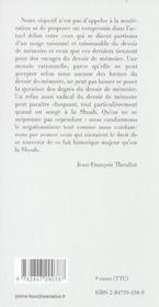 De L Inexistence D Un Devoir De Memoire - 4ème de couverture - Format classique