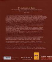 L'orchestre de Paris - 4ème de couverture - Format classique