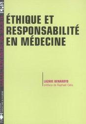 Ethique Et Responsabiliteen Medecine - Intérieur - Format classique