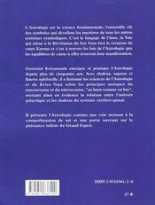 Astrologie, voie de sagesse - 4ème de couverture - Format classique