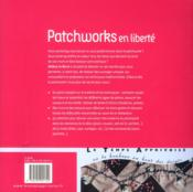 Patchworks en liberté - 4ème de couverture - Format classique