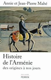Histoire de l'Arménie - Couverture - Format classique