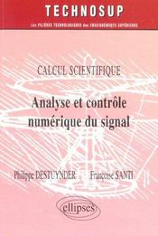 Calcul Scientifique Analyse Et Controle Numerique Du Signal - Intérieur - Format classique