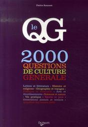 2000 questions de culture générale - Intérieur - Format classique