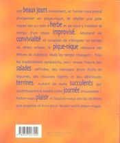 Un coin de pique-nique - 4ème de couverture - Format classique
