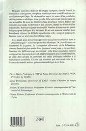 Exils Et Migration ; Italiens Et Espagnols En France, 1938-1946 - 4ème de couverture - Format classique