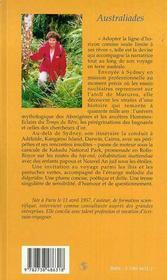 Australiades ; Voyage D'Une Parisienne Aux Antipodes - 4ème de couverture - Format classique