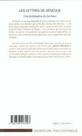 Les Lettres De Seneque ; Une Philosophie Du Bonheur - 4ème de couverture - Format classique