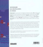 Dictionnaire Des Regionalismes De France - 4ème de couverture - Format classique