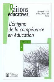 Raisons Educatives ; Definir Les Competences ; Necessite Ou Vogue Educative N.2 - Intérieur - Format classique