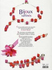 Bijoux raffinés ; 34 créations en pâte polymère - 4ème de couverture - Format classique