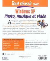 Windows Xp, Loisirs Numeriques - 4ème de couverture - Format classique