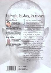 Les Vrais, Les Durs, Les Tatoues ; Le Tatouage A Biribi - 4ème de couverture - Format classique