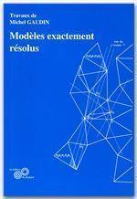 Modèles exactement résolus - Couverture - Format classique