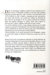 Revoir kaboul - 4ème de couverture - Format classique