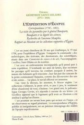 L'expédition d'Egypte 1798-1802 - 4ème de couverture - Format classique