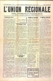 Union Regionale (L') N°1113 du 28/12/1939 - Couverture - Format classique