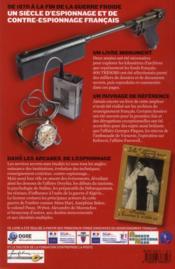 Dans les archives inédites des services secrets - 4ème de couverture - Format classique