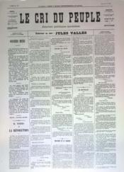 Cri Du Peuple (Le) N°57 du 27/04/1871 - Couverture - Format classique