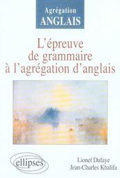 L'épreuve de grammaire à l'agrégation d'anglais - Intérieur - Format classique
