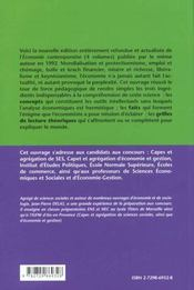 Economie Contemporaine Faits Concepts Theories - 4ème de couverture - Format classique