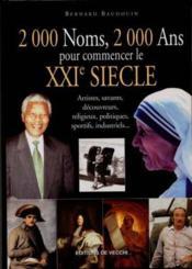 2000 Noms ; 2000 Ans Pour Commencer Xxi Siecle - Couverture - Format classique